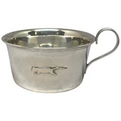 Italian Silver Panther Baby Cup