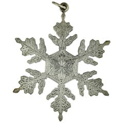 Italian Silver Snowflake, Gianmaria Buccellati, Bologna, Late 20th Century