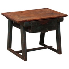 Italian Single-Drawer Rustic Smaller-Size Coffee Table