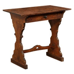 Italian Smaller-Sized Table or Writing Desk w/Shapely Hourglass Legs, 19th C.