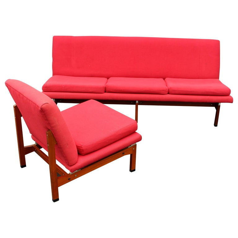 Italian Sofa and the Chair by Ico Parisi for Mim Roma For Sale