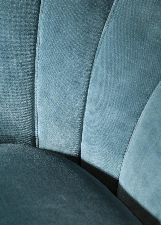 Italian Sofa by Gio Ponti Design 1960s Velvet Vintage Designer 2 Seat For Sale 4