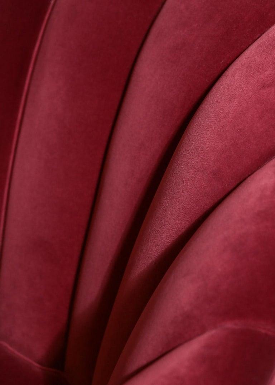 Italian Sofa Gio Ponti Style 1960s Burgundy Velvet For Sale 5