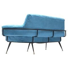 Italian Sofa in Vibrant Blue Velvet