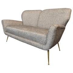 Italian Sofa, New Upholstery