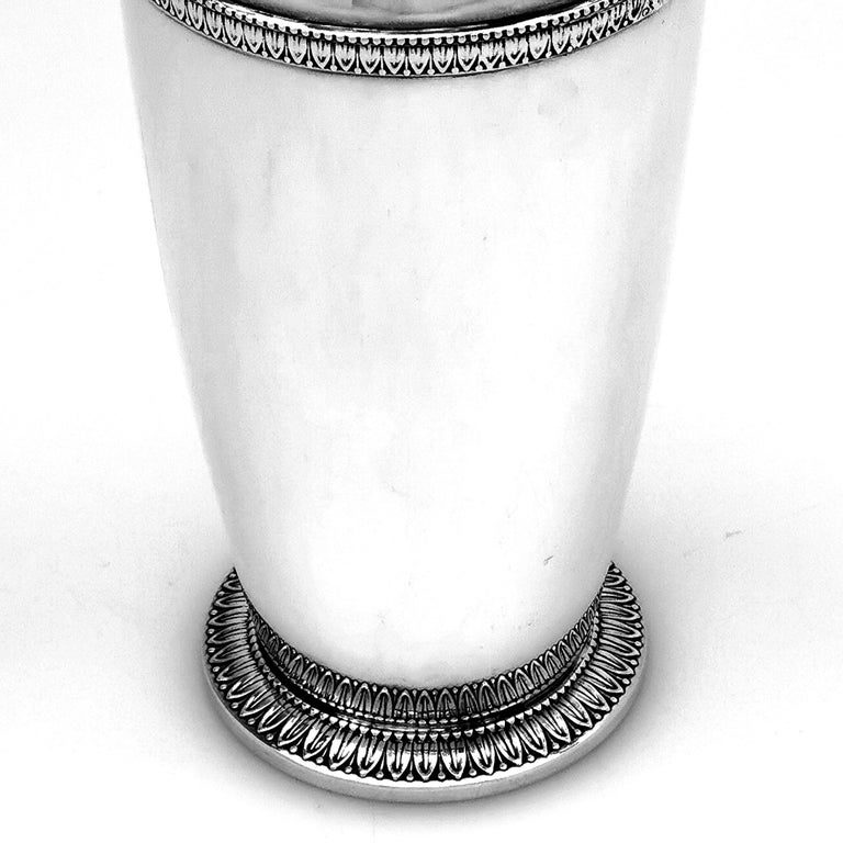 Italian Solid Silver Cocktail Shaker, circa 1960 For Sale 3