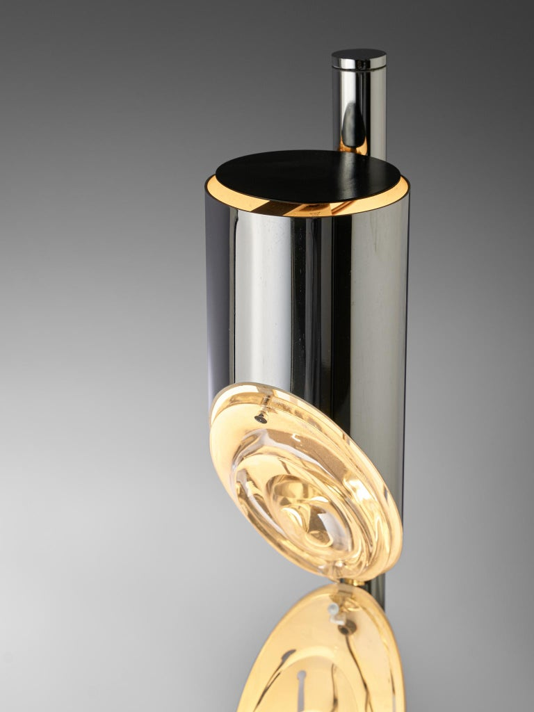 Metal Italian Space Age Table Lamp by Luci, 1970s For Sale