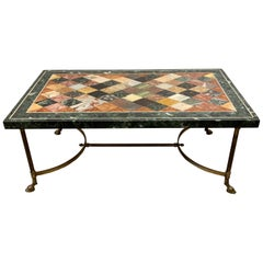 Italian Specimen Marble Coffee Table, 1950s