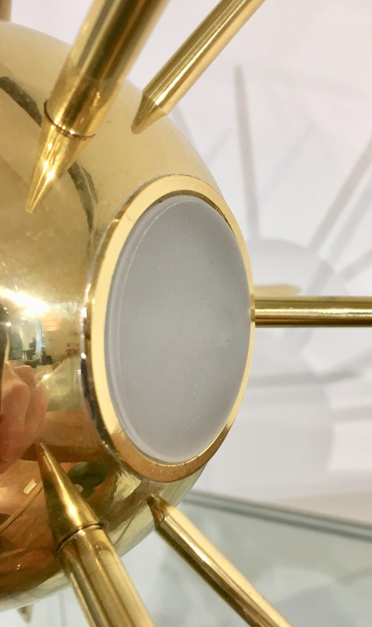 Mid-Century Modern Italian Sputnik Brass Table Lamp For Sale