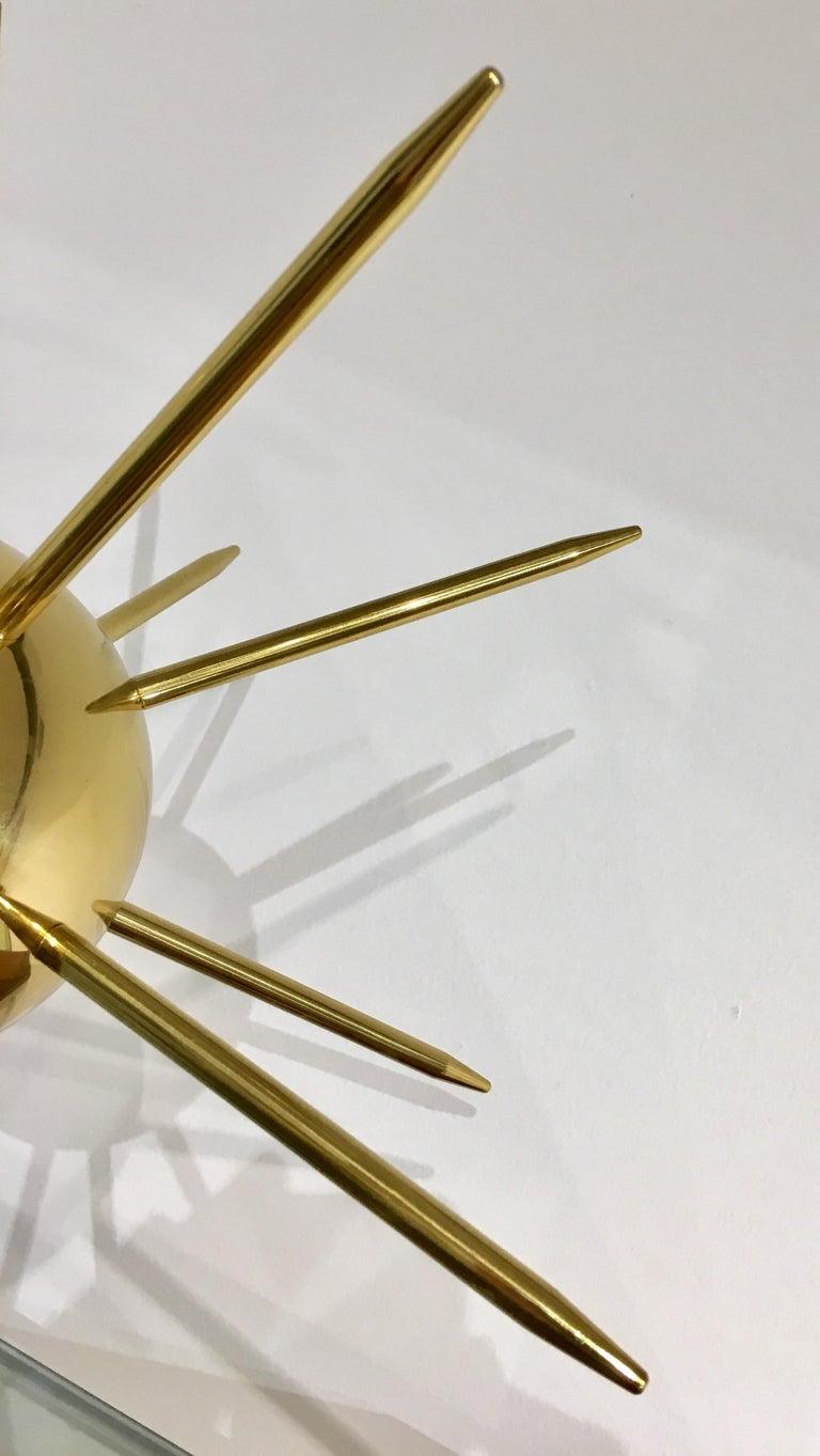 Contemporary Italian Sputnik Brass Table Lamp For Sale