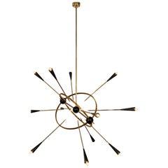 Italian Sputnik Chandelier by Vincente Paiola