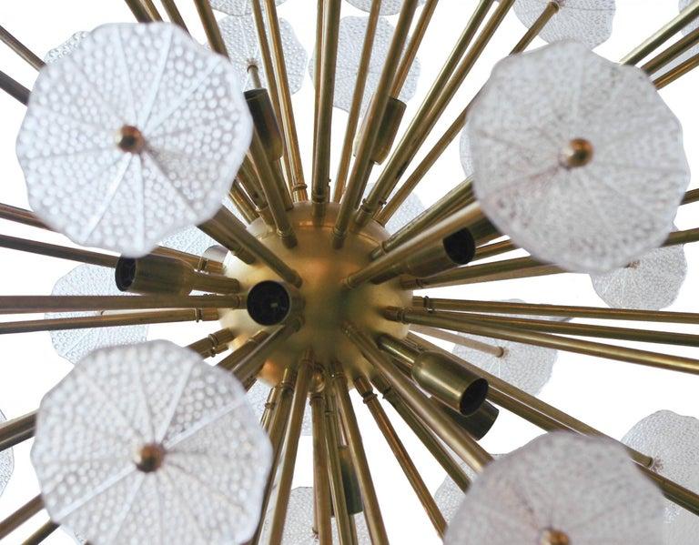 Italian Sputnik Chandelier w/ Clear Murano Glass, 1960s For Sale 2