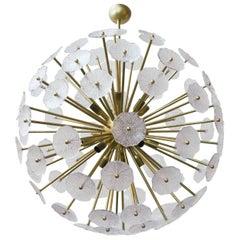 Italian Sputnik Chandelier w/ Clear Murano Glass, 1960s