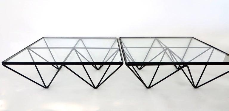 Paolo Piva Alanda Square Black  Coffee Table for B&B Italia  For Sale 1