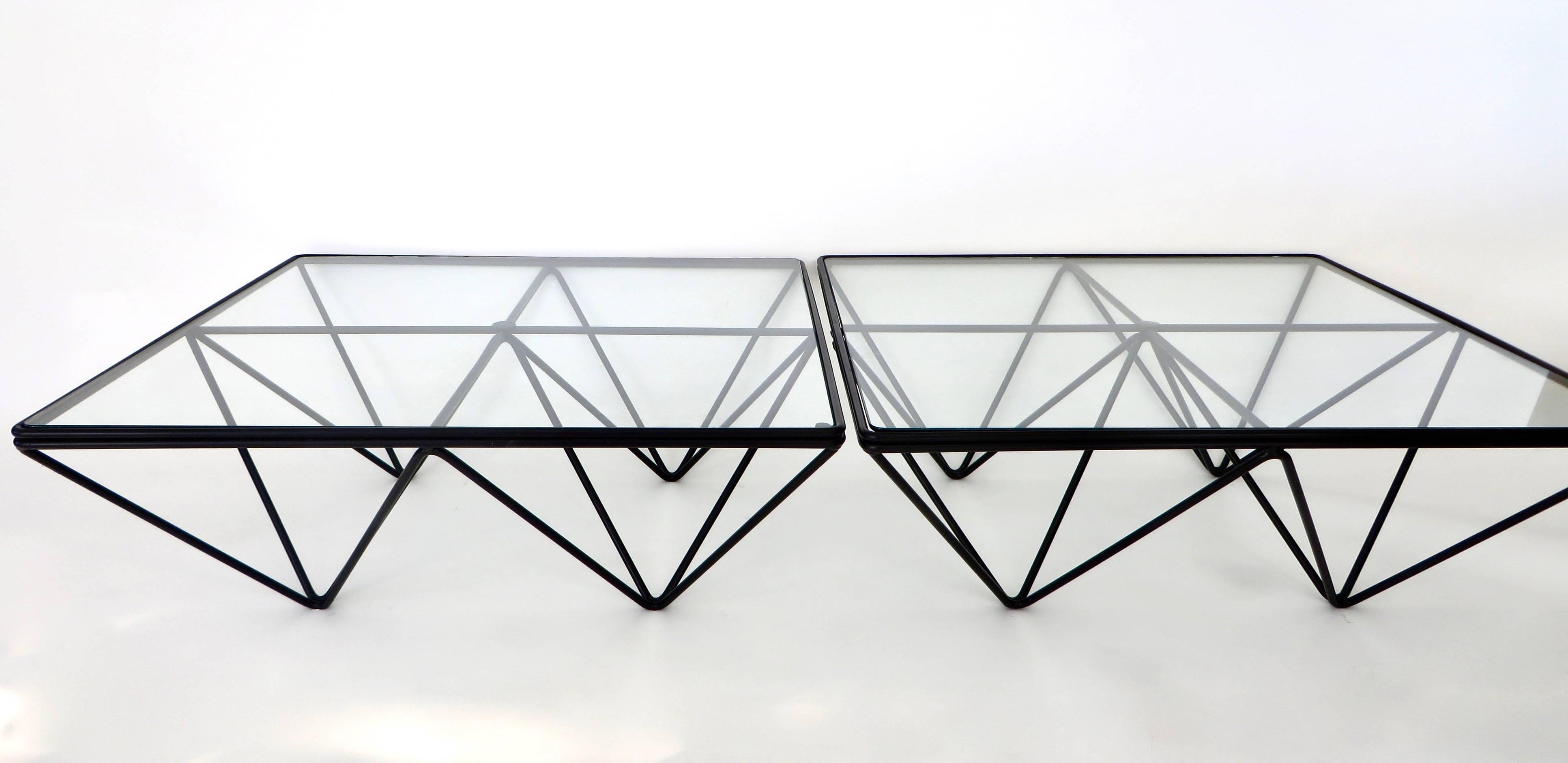 Alanda Table Attributed To Paolo Piva Square Black Coffee Table For Bu0026B  Italia For Sale 1
