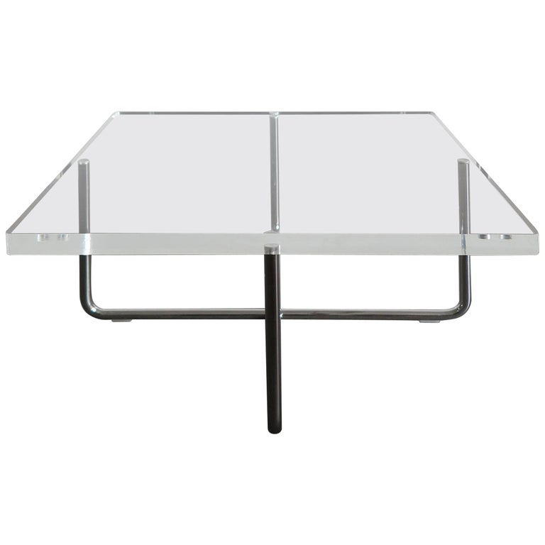 Square Plexigl Modern Coffee Table