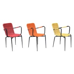 Italian Stackable Outdoor Chairs in Coloured Scooby, 1960s