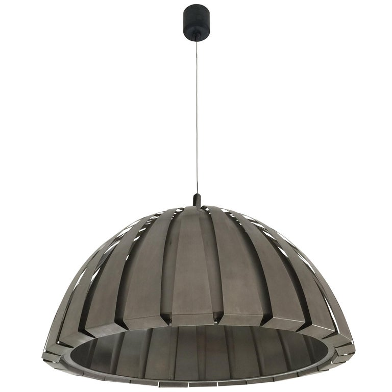 Stainless Steel Pendant Light italian stainless steel pendant lamp by elio martinelli for martinelli luce for sale