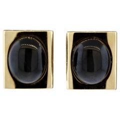 Italian Star Diopside Gold Earrings