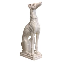 Italian Statue, Greyhound, Marked, Made in the 60s/70s, Statue Dog