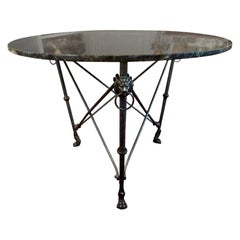 Italian Steel and Bronze Center Table after Giacometti