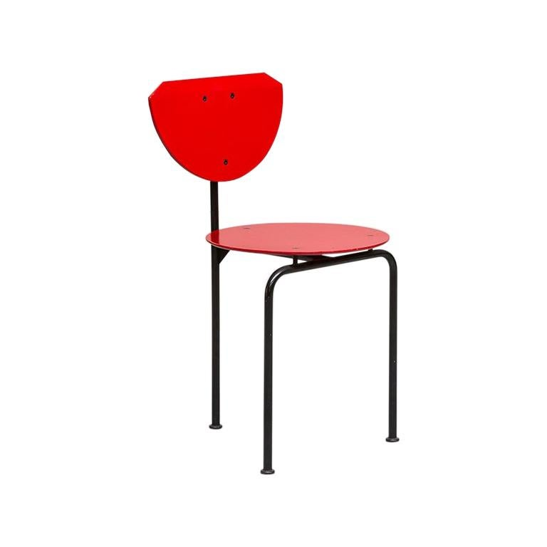 Italian Steel and MDF Alien Chair by Carlo and Gianni Forcolini for Alias, 1982