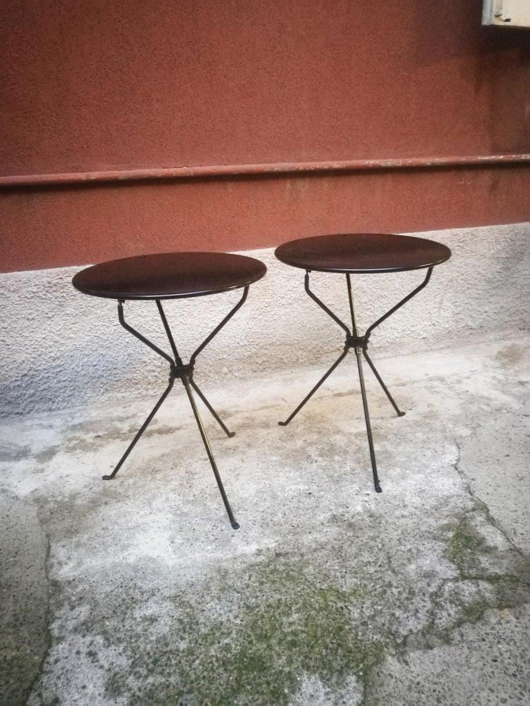 Mid-Century Modern Italian Steel Folding Table Cumano by Achille Castiglioni for Zanotta, 1978 For Sale