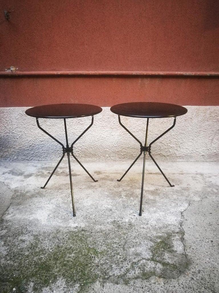 Italian Steel Folding Table Cumano by Achille Castiglioni for Zanotta, 1978 In Good Condition For Sale In MIlano, IT