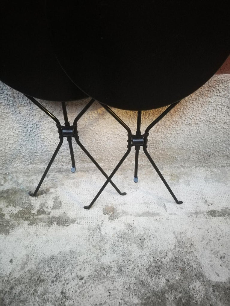 Late 20th Century Italian Steel Folding Table Cumano by Achille Castiglioni for Zanotta, 1978 For Sale