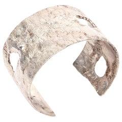 Italian Sterling Silver Cut Out Cuff Bracelet