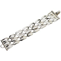 Italian Sterling Silver Wide Chain Link Bracelet