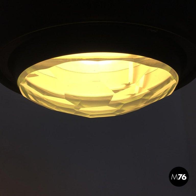 Italian Stilnovo Glass and Steel Pendant Lamps Mod.1230 by Stilnovo, 1960s For Sale 3