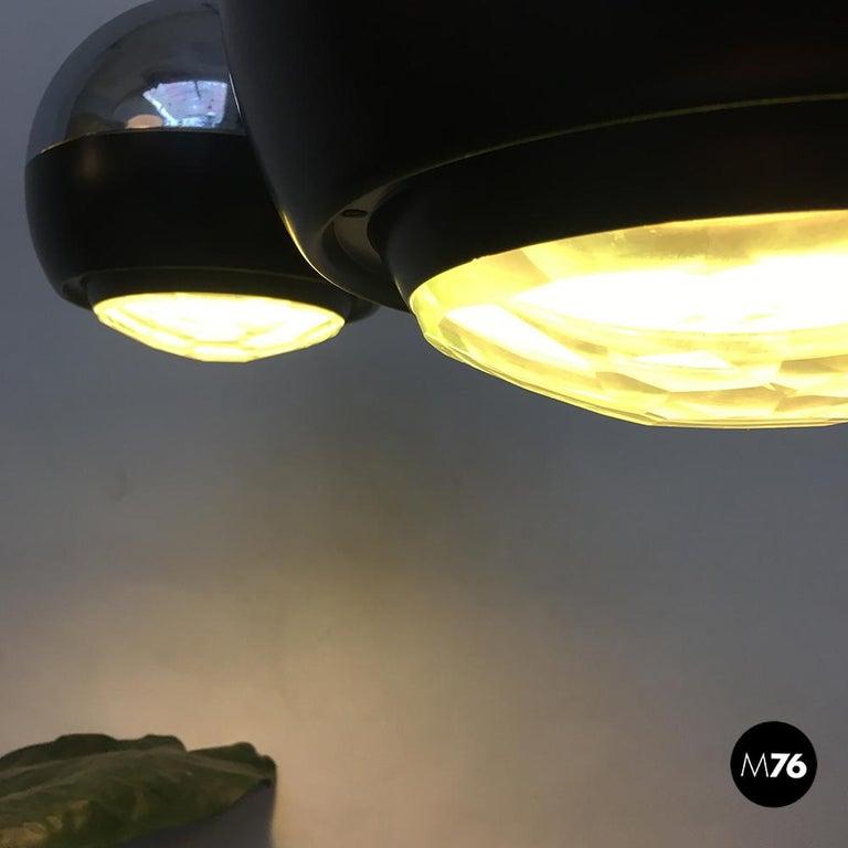 Italian Stilnovo Glass and Steel Pendant Lamps Mod.1230 by Stilnovo, 1960s For Sale 4