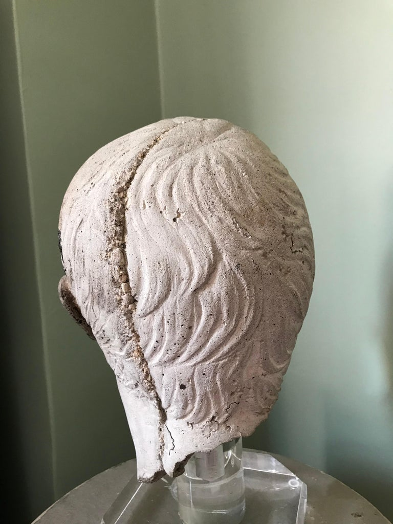 20th Century Italian Stone Bust of Augustus Caesar, on Acrylic Base For Sale