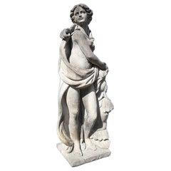 Italian Stone Garden Sculptures of Roman Mythological Subject Minerva