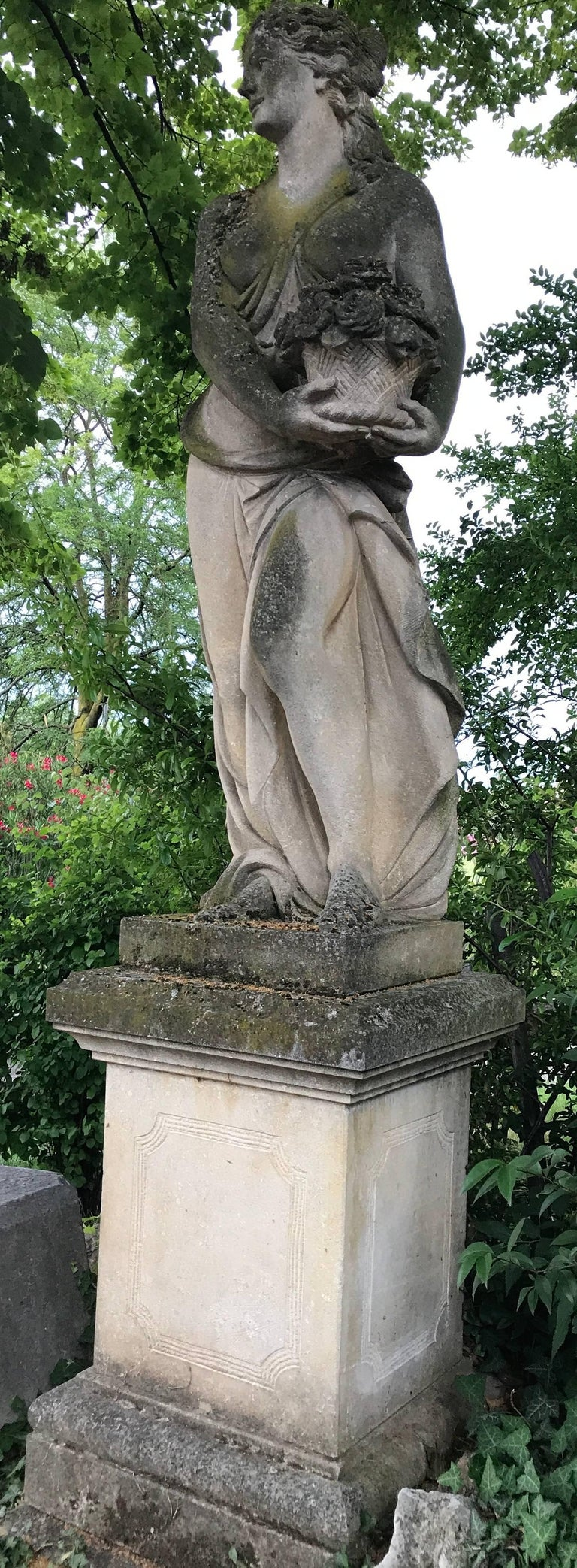 20th Century Italian Stone Garden Statues Representing the Four Seasons For Sale