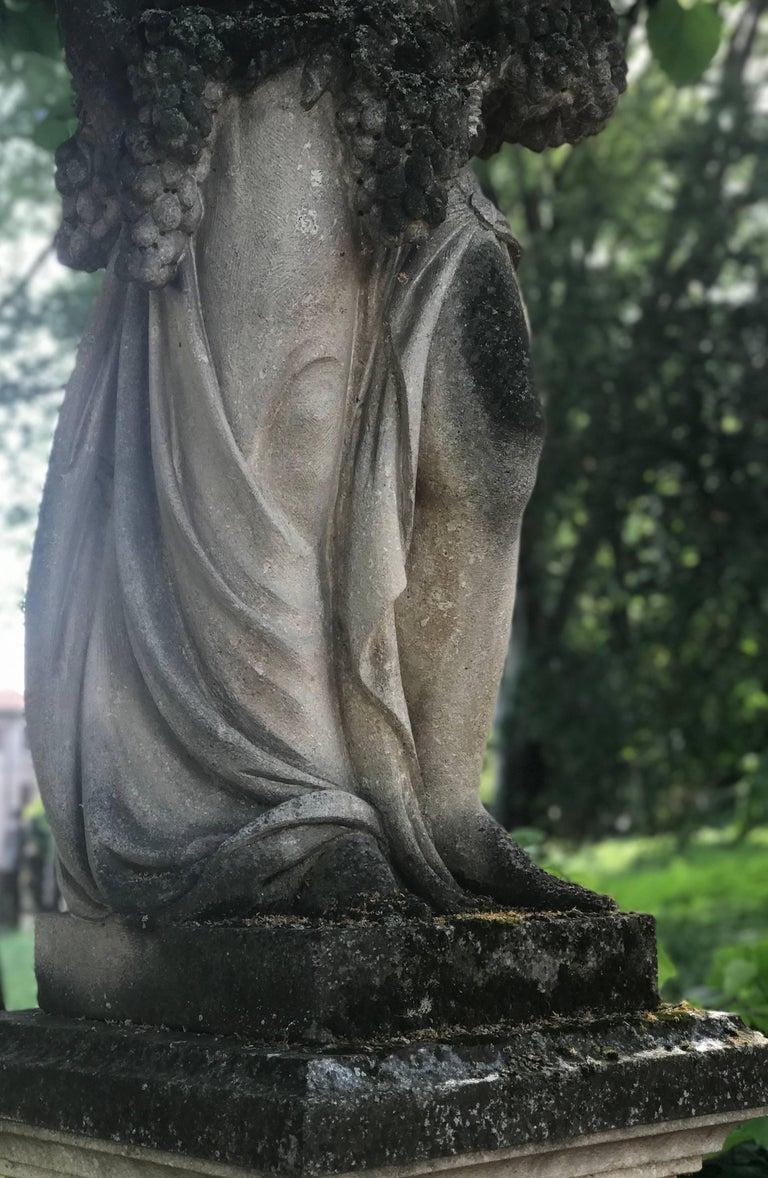 Italian Stone Garden Statues Representing the Four Seasons For Sale 2