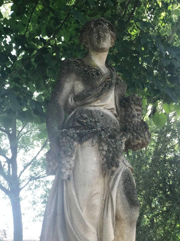 Italian Stone Garden Statues Representing the Four Seasons For Sale 3