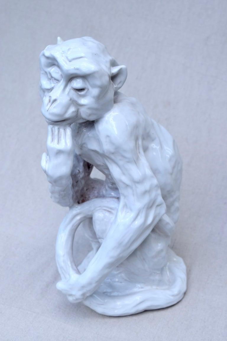 Italian Studio Pottery Monkey Sculpture, Hollywood Regency, Mid-Century Modern For Sale 1