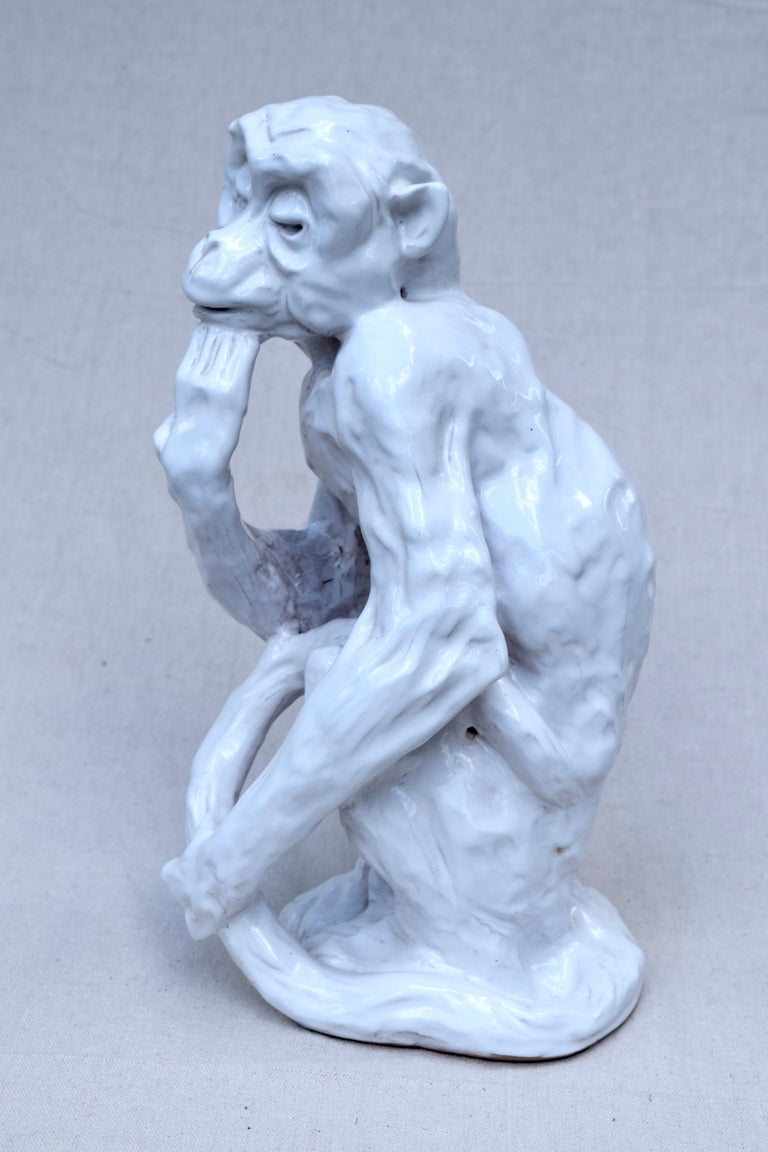 Italian Studio Pottery Monkey Sculpture, Hollywood Regency, Mid-Century Modern For Sale 2