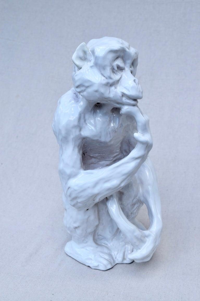 Italian Studio Pottery Monkey Sculpture, Hollywood Regency, Mid-Century Modern For Sale 4