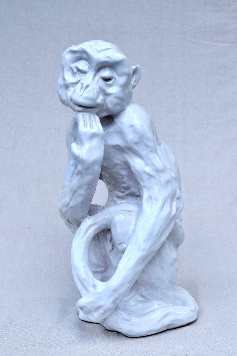 Italian Studio Pottery Monkey Sculpture, Hollywood Regency, Mid-Century Modern For Sale 5