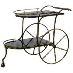 Italian Style Brass Bar Cart