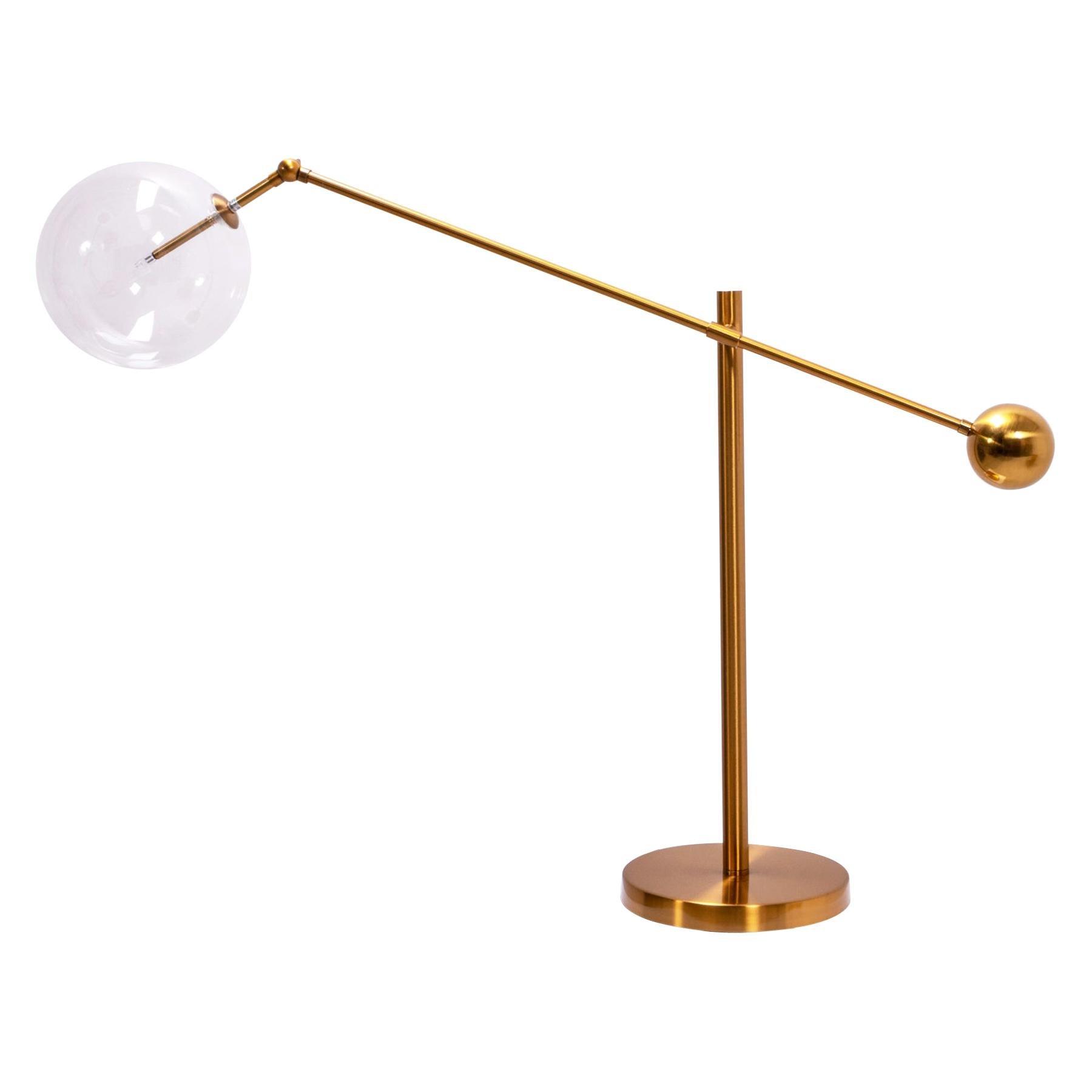 Italian Style Brass Globe Table Lamp