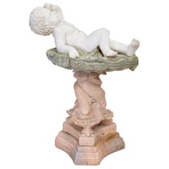 Italian Style Carved Variegated Marble Statue