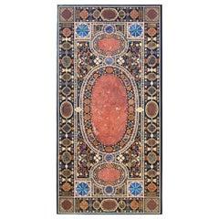 Italian Style Gemstone Inlaid Tabletop
