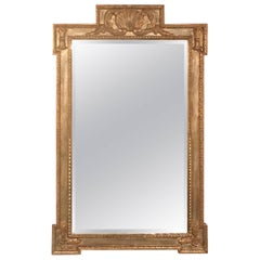 Italian Style Giltwood Mirror with Scallop Shell