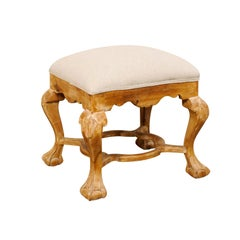 Italian-Style Ottoman with Paw and Ball Feet
