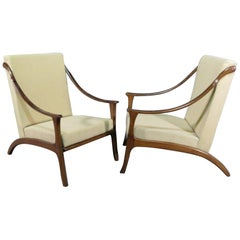 Italian Style Wood Frame Chairs