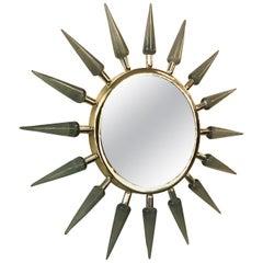 Italian Sunburst Murano Glass Mirror